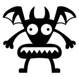 Cartoon Funny Demon icon Character Isolated Royalty Free Stock Photo