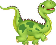 Cartoon funny dinosaur  on white background Stock Photos