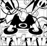 Cartoon funny DJ illustration Royalty Free Stock Photography