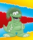 Cartoon funny dragon. Royalty Free Stock Image