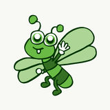 Cartoon funny dragonfly design for kids Royalty Free Stock Photos