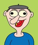 Cartoon funny dude. Illustrated dumb dude stucks out tongue Vector Illustration