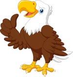 Cartoon funny eagle giving thumb up royalty free illustration