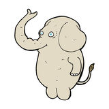Cartoon funny elephant Stock Images