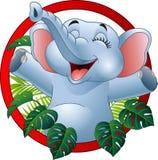 Cartoon funny elephant. Illustration of Cartoon funny elephant Royalty Free Stock Photo