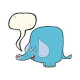 Cartoon funny elephant with speech bubble Stock Photo