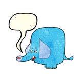 Cartoon funny elephant with speech bubble Stock Photos