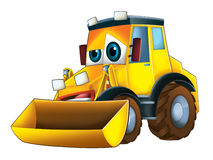 Cartoon funny excavator -  Royalty Free Stock Photos
