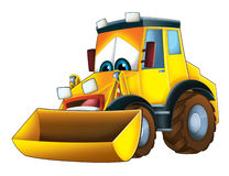 Cartoon funny excavator -  Royalty Free Stock Images