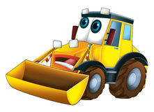 Cartoon funny excavator -  Stock Photo