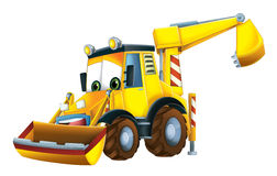 Cartoon funny excavator -  Royalty Free Stock Photo