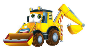 Cartoon funny excavator -  Stock Image