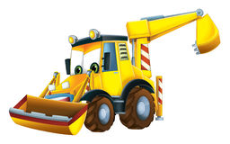 Cartoon funny excavator -  Royalty Free Stock Image