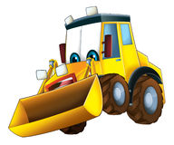 Cartoon funny excavator -  Stock Images