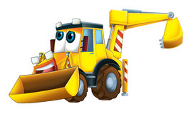 Cartoon funny excavator - isolated Stock Images