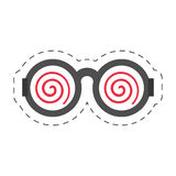 Cartoon funny eyeglasses april fools. Illustration eps 10 Royalty Free Stock Photos