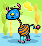 Cartoon funny fantasy creature. Cartoon Illustration of Funny Colorful Fairytale Character Creature in Fantasy World Stock Images