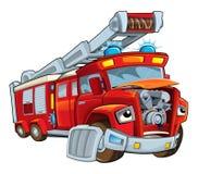Cartoon funny firetruck - isolated Stock Image