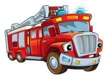Cartoon funny firetruck - isolated Royalty Free Stock Photo