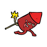 Cartoon funny firework character Royalty Free Stock Image