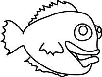Cartoon funny fish Royalty Free Stock Images