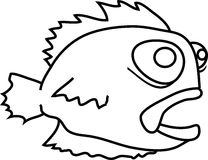 Cartoon funny fish Royalty Free Stock Photography