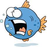 Cartoon Funny Fish. Cartoon illustration of a funny fish burping Royalty Free Stock Photography