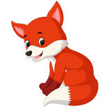 Cartoon funny fox Stock Images