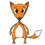 Cartoon funny fox. Vector illustration Stock Images