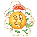 Cartoon Funny Fried Egg stock image