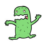 Cartoon funny frog Stock Images