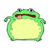 Cartoon funny frog. Hand drawn cartoon illustration in retro style.  Vector available Stock Image
