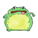 Cartoon funny frog Royalty Free Stock Image