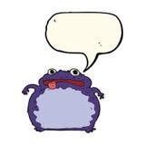 Cartoon funny frog with speech bubble Royalty Free Stock Photo