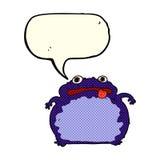 Cartoon funny frog with speech bubble Stock Photos
