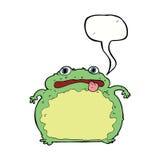 Cartoon funny frog with speech bubble Royalty Free Stock Photos