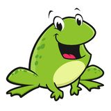 Cartoon Funny Frog. Vector illustration of a funny frog for design element Stock Image