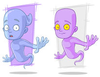 Cartoon funny ghost characters vector set Royalty Free Stock Photo