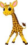 Cartoon funny giraffe mascot  on white background Stock Photography
