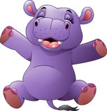 Cartoon funny hippo Royalty Free Stock Image