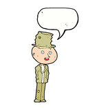 cartoon funny hobo man with speech bubble Royalty Free Stock Photos