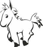 Cartoon funny horse Stock Photos