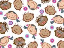 Cartoon funny kids pattern stock photos