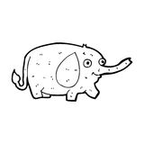 Cartoon funny little elephant Royalty Free Stock Images