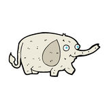 Cartoon funny little elephant Stock Images