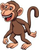 Cartoon funny little monkey royalty free illustration