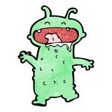 Cartoon funny little monster Royalty Free Stock Photo