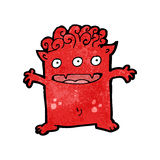 Cartoon funny little monster Stock Images