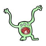 Cartoon funny little monster Stock Photo