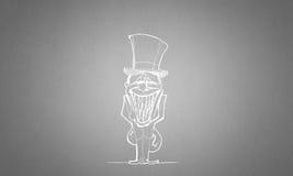 Cartoon funny man Stock Images